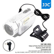 JJC Wired Remote Commander for SONY LANC ACC Socket Handycam Camcorder as RM-VD1