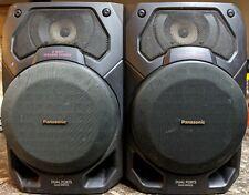 Vintage Panasonic SB-AK17 2 Way Speakers System Bass-Reflex 6 Ohms 100 Watts!