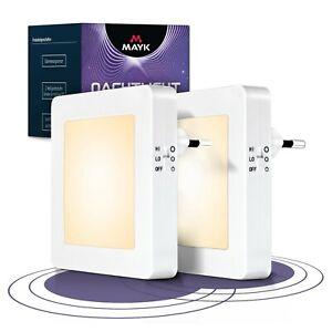 Nachtlicht Steckdose LED 2er Set Nachtlampe mit Dämmerungssensor Nachtlicht