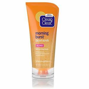 Clean & Clear Morning Burst Facial Scrub For All Skin Types, 5 oz (141g)