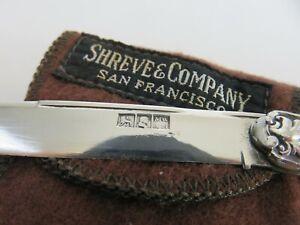 American Civil War Era Coin Silver Folding Fruit Nut Knife & Pouch c1850s