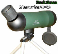 BAK7 Spotting Scope 20X50 Angled Zoom Monocular Waterproof Telescope with Tripod