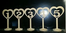 Raw Wooden tabble numbers custom made home decor MDF wedding anniversary special