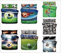 3D Football Kids Bedding Set Sport Soccer Duvet Cover Pillowcase Comforter Cover