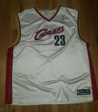 Cleveland Cavaliers NBA Reebok White LeBron James #23 Size 4XL Jersey FREE SHIP!