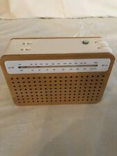 Lexon Safe Collection Radio Bamboo and White Dynamo Powered AM/FM