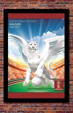 "2018 FIFA World Cup Russia Poster Soccer Tournament   Kazan   13"" x 19"""
