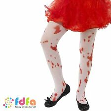 Childs Halloween Fancy Dress Blood Stained Tights Girls 6-12 Years by Smiffys