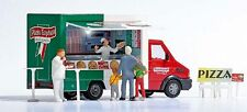 Busch Mobile Pizza Van with Accessories and Lighting HO Scale (suit OO also)