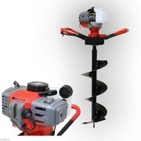 One Man 52cc Gas Power Post Earth Hole Digger Drill  w/ 250mm Auger Bit EPA