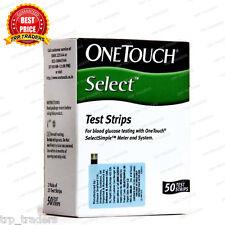OneTouch Select Simple 100 Test Strips (50x2) - Diabetes - Jhonson & Jhonson