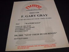 F. GARY GRAY 1995 MTV Awards for TLC and DR. DRE original PROMO DISPLAY AD mint