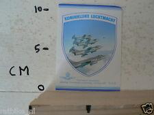 STICKER,DECAL KONINKLIJKE LUCHTMACHT, AIRFORCE COMBATPLANE