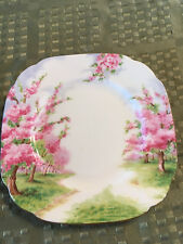 "Royal Albert Blossom Time Snack Biscuit Side plates set of 4 6 1/4 "" Square"