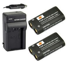DSTE 2x CR-V3 LB01 Battery + Charger for Olympus SP-500UZ SP-350 D565 C-5050