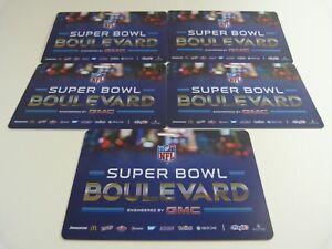lot of 5 new NFL Super bowl Boulevard badges XLVIII Manhattan, NY free lanyard