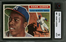 1956 TOPPS BASEBALL~#31~HANK AARON~MILWAUKEE BRAVES~OUTSTANDING COLOR~KSA 9 MINT