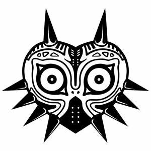 "6"" MAJORA'S MASK Vinyl Decal Sticker Car Window Laptop Zelda Majoras Skull Link"