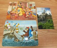 Mixed Lot of 3 Genuine Disney B'ar-rel Bridge Snow White Fantasy Post Cards