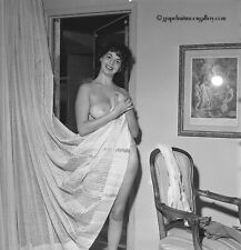 Vintage Bunny Yeager Pinup Camera Negative Beautiful Nude Shy Brunette Model