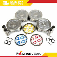 Pistons w/ Rings fit 97-99 Subaru Forester Legacy 2.5L DOHC EJ25D