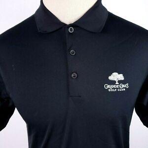 Nike Golf Dri Fit Mens Wick Polo Shirt Caddyshack Grande Oaks Small Country Club