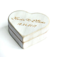 Personalized Heart Ring Box Rustic Wedding Ring Bearer Box Vintage Ring Holder