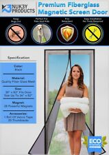 Magnetic Mesh Bug Screen Door Strong Magnets Fiberglass Full Frame Curtain Nuk3y