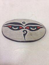 Nepal Buddhist Carved Om Mani Stone