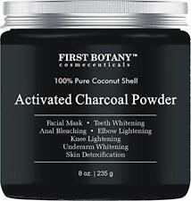 Activated Charcoal Powder 8 oz-DIY Recipes-Teeth Whitening, Facial Masks & More