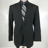 Calvin Klein Men's Size 44R Black Wool Blazer Sport Coat Jacket