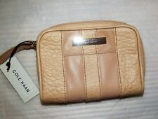 Authentic Cole Haan Sandstone Peach Leather Wristlet Pouch Bag New NWT B46436