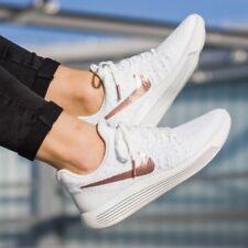 Nike LunarEpic Flyknit 2 X-Plore Gold White Running Trainers Women Men UK 7 7.5