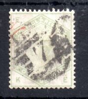 GB QV 1883 1/- green SG196 used WS10196