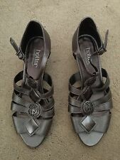 Hotter Ladies Bronze Wedge Sandals Size 4. Great Condition.