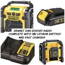 Dewalt DAB Digital Radio DCR020 240v XR Compact + 18v lithium Battery + Charger