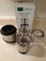 Multipurpose Electric Coffee Bean Grinder with 2 Removable Cups 200WATT PREOWNED