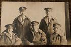 WWI RPPC Berkshire & Cambridgeshire Regiment Soldiers & Others Photo Postcard