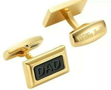 Willis Judd New Men's DAD Two Tone Black Stainless Steel Cufflinks