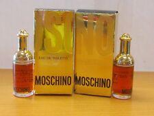 Lot Of 2 Vintage Moschino Perfume Women 1/8 oz / 4 ml Eau de Toilette Miniature