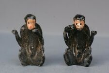 BRITAINS LEAD ZOO ANIMALS ** PAIR of #978 BABY CHIMPS ** Post-war ONLY issue...!