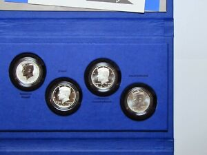 2014 US Mint 50th Anniversary Kennedy Half Dollar Silver 4 Coin Collection CAMEO