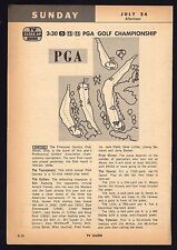 1960 TV AD~PGA GOLF CHAMPIONSHIP~FIRESTONE COUNTRY CLUB AKRON,OHIO~BOB ROSBURG