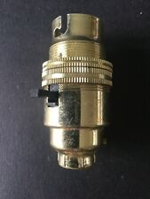 Click Switched Brass BC Lamp Holder