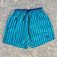Vintage 80s 90s Umbro Athletic Nylon Sports Shorts Colorblock Running Soccer XL