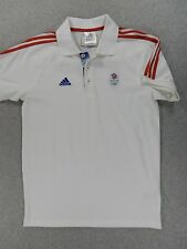 Great Britain Adidas Olympic Short Sleeve Polo Shirt (Mens Small) White