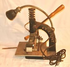 Vintage Kwikprint Hot Foil Stamping Machine Embossing AS IS for parts Repair