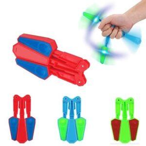Flip Finz LED Light Fidget Spinner Finger Hand Toys Spin Stress Relief EDC Gift