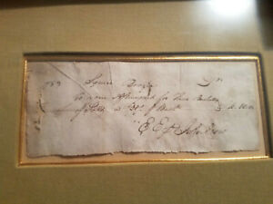Original Delivery Receipt To Daniel Boone's Brother, Squire Boone, 1783