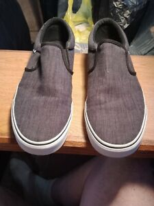 Vans Classic Slip-On Skate Shoes Men's Size 13 Charcoal Gray